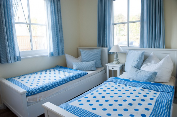Möwenkoje – Schlafzimmer Einzelbetten